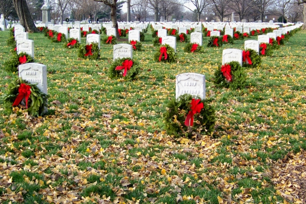 Wreaths, leaves and graves