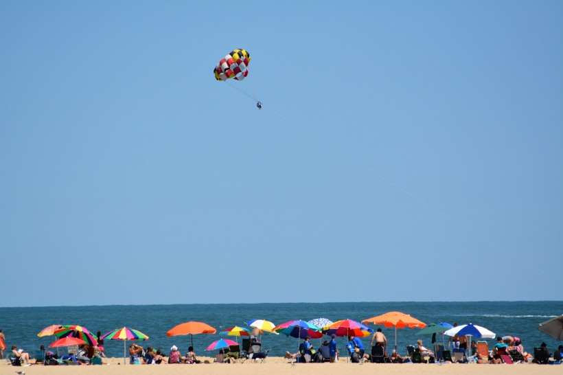 Ocean City Maryland Beach and Parasail Photo by Mike Hartley