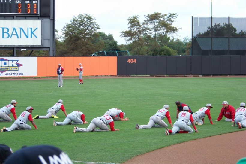 Pre-game stretch Photo by Mike Hartley