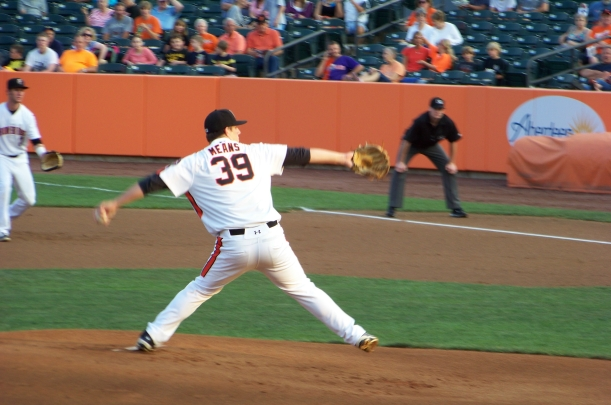 It was MEANS to and end because the Ironbirds won 5-2.  Photo by Mike Hartley