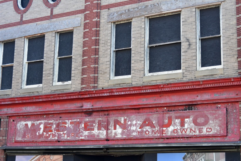 A onetime Western Auto Store.  Photo by Mike Hartley