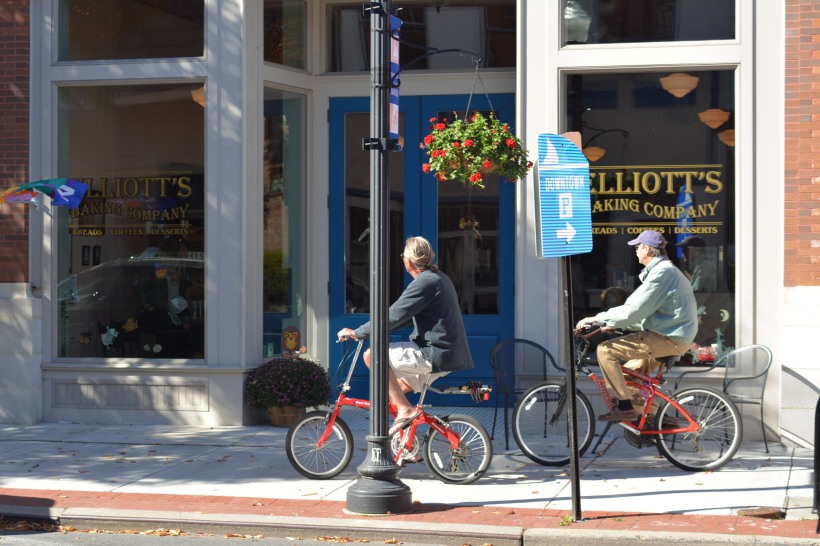 No age limits on bikes in this town.  Photo by Mike Hartley