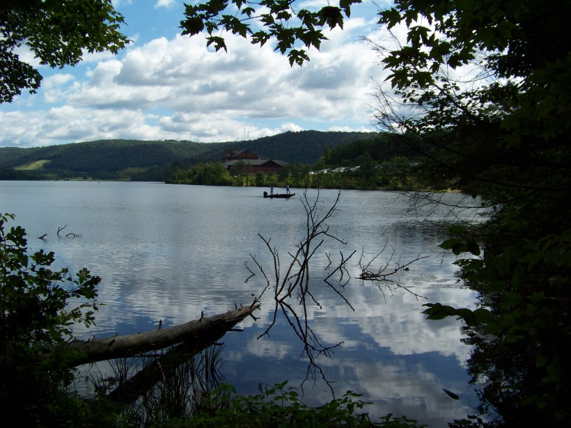 A view of the lodge across the lake.  Photo by Mike Hartley