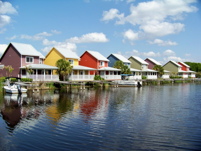 Some colorful waterfront property in Florida. Photo by Mike Hartley