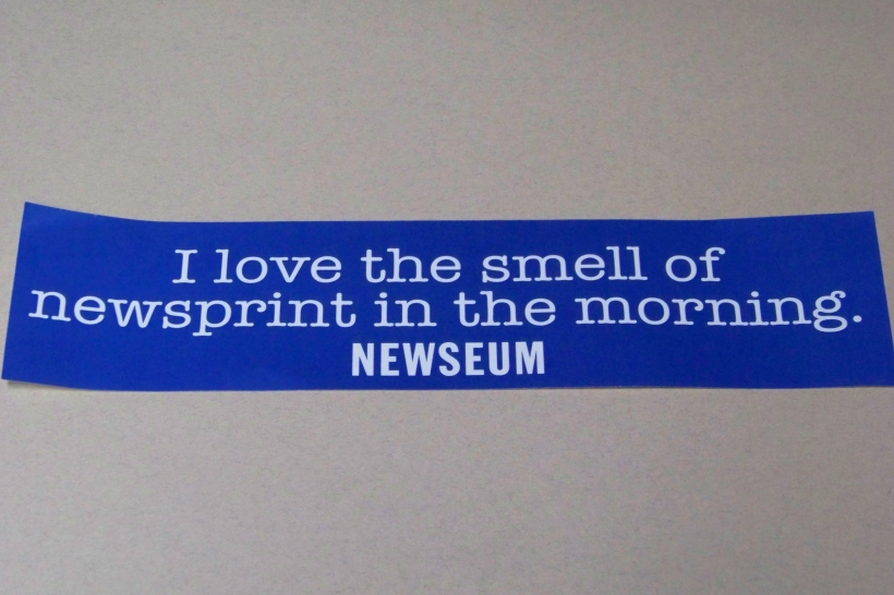 A bumper sticker I can Support.  Photo by Mike Hartley
