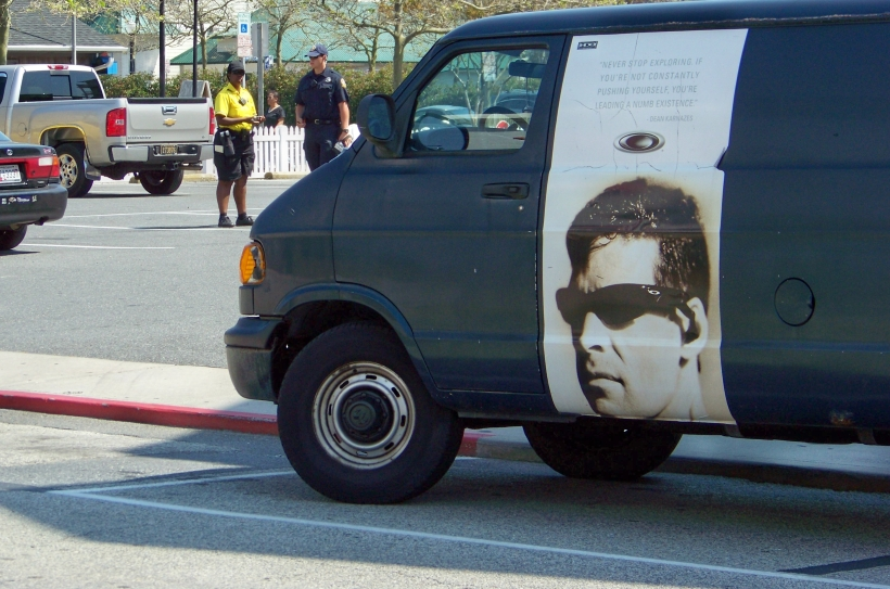 The whole time I was giving that van a parking ticket it felt like someone was watching me.  Photo by Mike Hartley