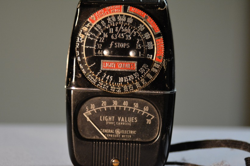 G.E. Light/exposure meter. Photo by Mike Hartley