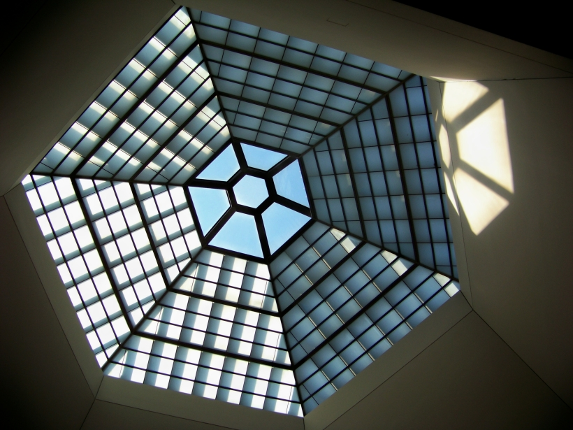 Ceiling at Holocaust Museum.  Photo by Mike Hartley