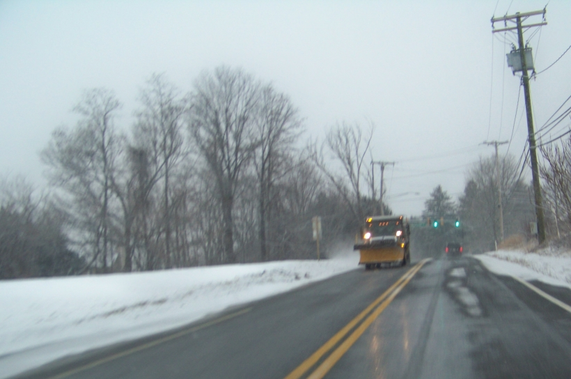 Snowplow along Rt 99 Photo by Mike Hartley