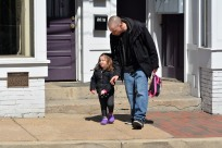 Nothing like a father daughter walk. Photo by Mike Hartley
