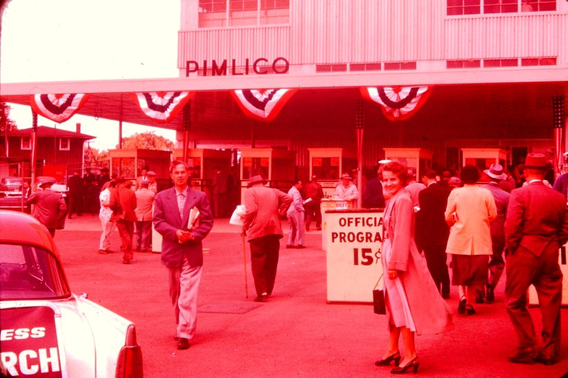Pimlico racetrack - Believe that is Mom in foreground so assuming my Dad is behind the camera. I know he was a big track fan.
