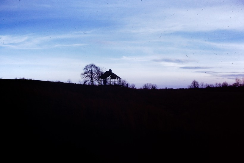 Barn frame from 1970 off Gorman road from what scribbling I had on the slide.  Photo by Mike Hartley