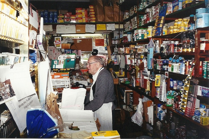 Mr Yates behind his counter. Photo by Mike Hartley