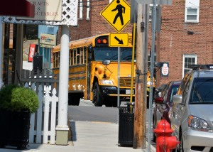 Caution, school season again. Photo by Mike Hartley
