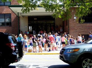 Open house at Mt Airy Elementary. Photo by Mike Hartley