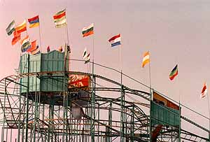 The Old coaster on the pier in Ocean City. Photo by Mike Hartley