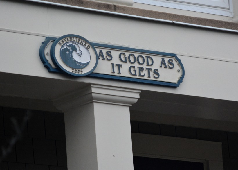 "What is ""As Good As It Gets?"" Photo by Mike Hartley"