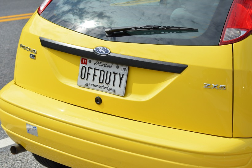 Another vanity plate. Photo by Mike Hartley