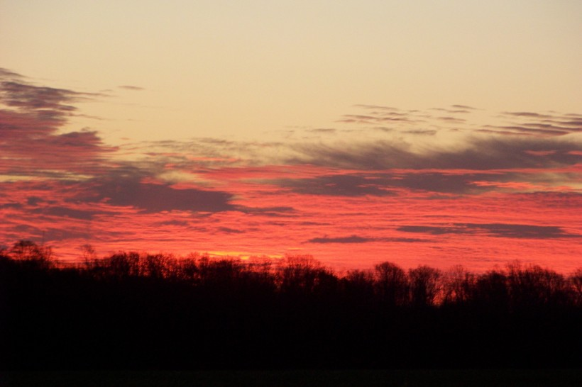 Sunrise in Woodstock on Tuesday the 17th.  Photo by Mike Hartley