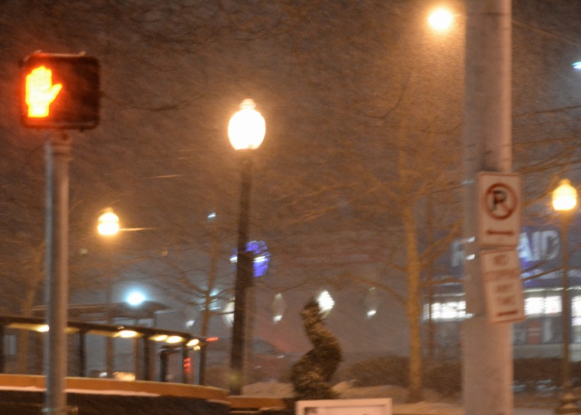 Street crossing light in DC last night.  Photo by Mike Hartley