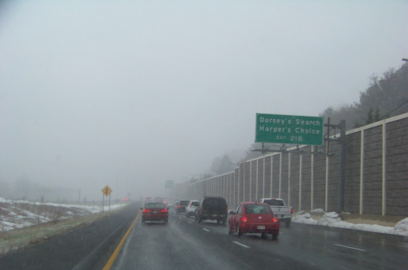 A quick snowstorm this morning going down Route 29 south towards Rt 108. Photo by Mike Hartley