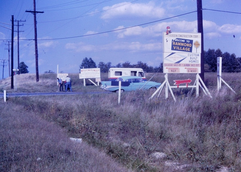 Corner of Route 29 and Gorman Road in 1961. And where I grew up in Hammond Villiage. Photo by James Hartley