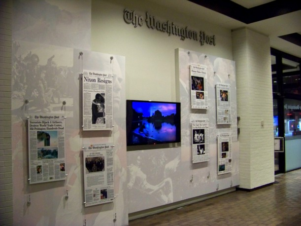 Lobby of the old Washington Post building. Photo by Mike Hartley