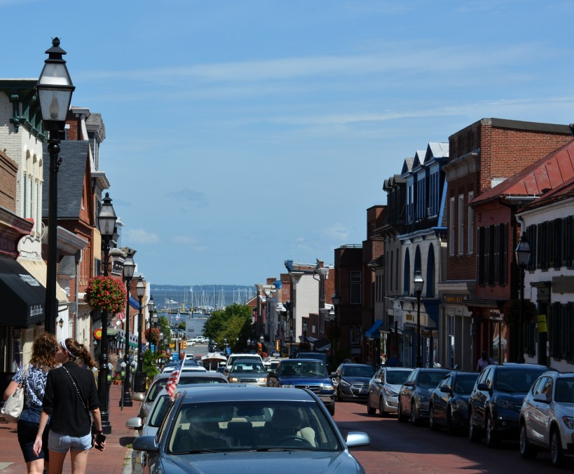 Looking down Main St in Annapolis. Photo by Mike Hartley