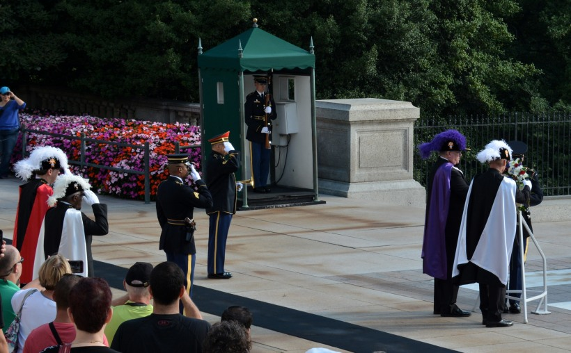 Wreath laying. Photo by Mike Hartley