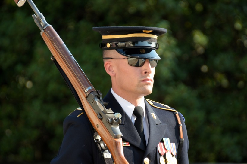 "One of the ""Old Guard"" at the Tomb of the Unknown Soldier. Photo by Mike Hartley"