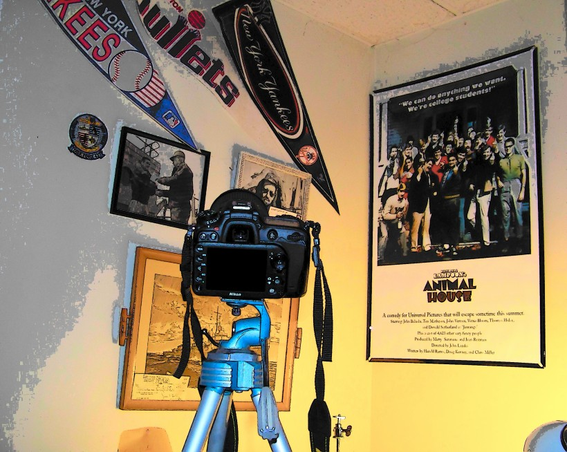 Nikon on tripod  Photo by Mike Hartley